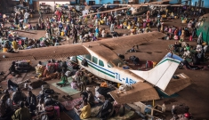 Mpoko airport IDP camp